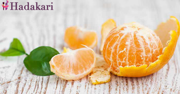 Have a glowing skin with orange peels